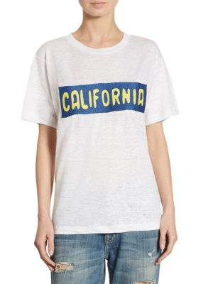 California Plate Linen T-Shirt by Banner Day