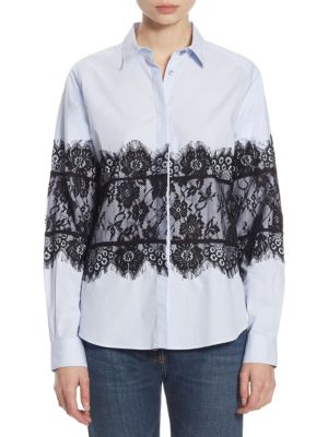 Lace Cotton Oxford Shirt by EACH X OTHER