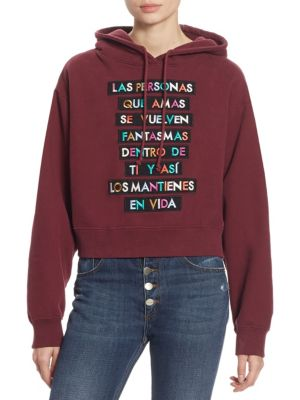 Embroidered Text Cotton Hoodie by EACH X OTHER