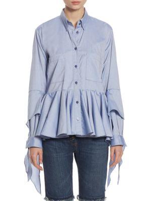 Ruffled Cotton Poplin Shirt by EACH X OTHER