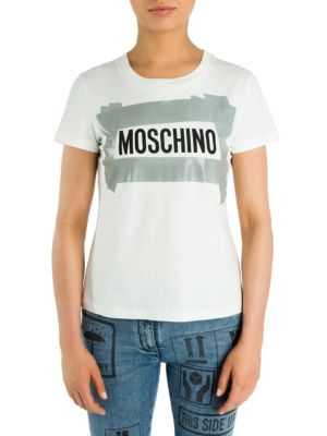 Cotton Logo Tee by Moschino