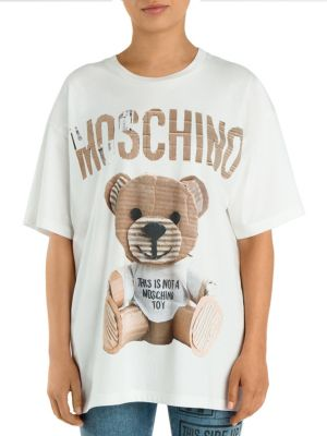 Cotton Teddy Bear Tee by Moschino