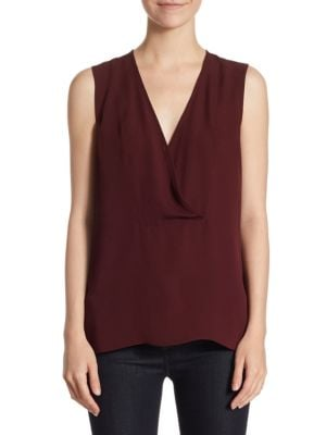 Crossover Shell Silk Top by Theory