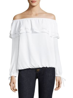 Off-the-Shoulder Ruffle Blouse by MICHAEL MICHAEL KORS
