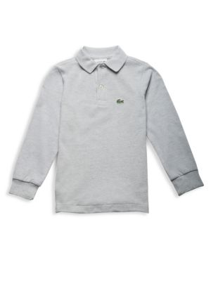 Little Boy's & Boy's Long Sleeve Ribbed Collar Sweater by Lacoste
