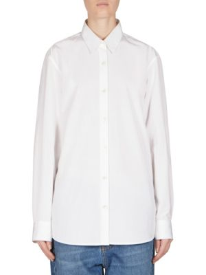 Mens-Inspired Cotton Shirt by Dries Van Noten