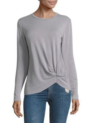 Long-Sleeve Pullover Twist Tee by Stateside