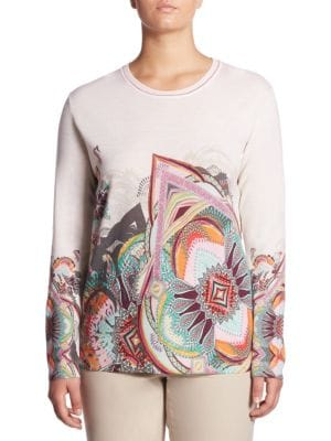 Regular-Fit Paisley Print Wool Sweater by Basler, Plus Size