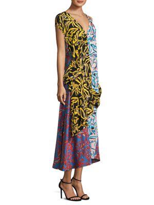 Buy Diane von Furstenberg Multicolored Silk Dress online with Australia wide shipping