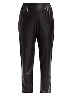 2178194e85e3 Caroline Rose. Plus Faux Leather Skinny Pants