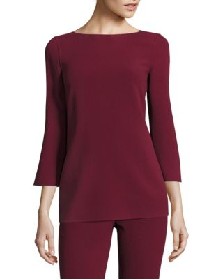 Wool Boatneck Top by Michael Kors Collection