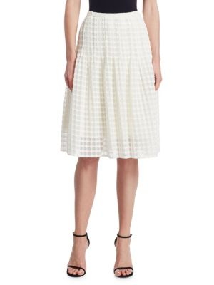 Akris Punto  Lace Knee Length Bell Skirt