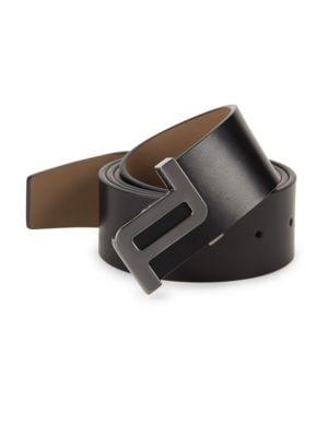 PORSCHE DESIGN Icon 40 Leather Belt in Black