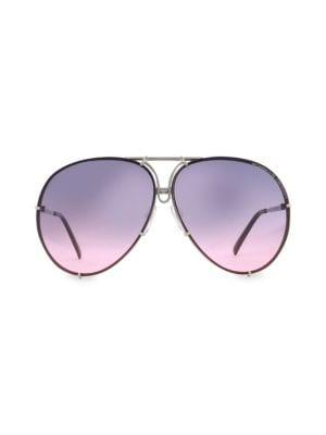 PORSCHE DESIGN P´8478 69Mm Interchangeable Aviator Sunglasses in Purple