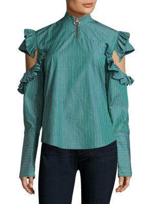 Truth Teller Striped Cotton Top by MAGGIE MARILYN