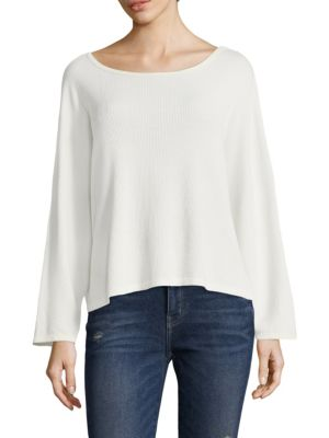 Long-Sleeve Cotton Tee by Current/Elliott