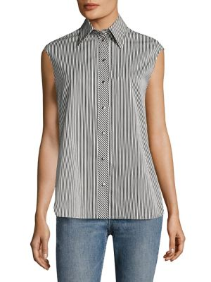 Striped Cotton Shirt by Helmut Lang