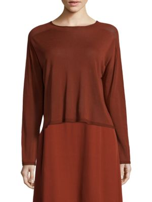 Mockneck Top by Eileen Fisher