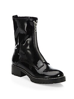 Alice + Olivia - Dustin Patent Leather Booties