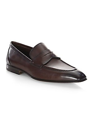 2a608466fb7 Santoni - Gannon-1 Leather Penny Loafers