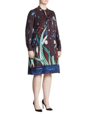 Dafne Print Flowy Dress