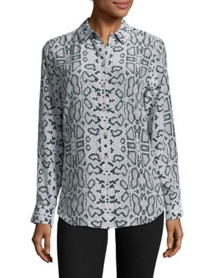 Python Printed Silk Blouse by Equipment