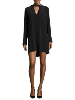 Buy Equipment Cadence Buckle Tie Silk Mini Dress online with Australia wide shipping