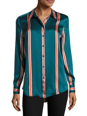 Essential Striped Silk Blouse by Equipment