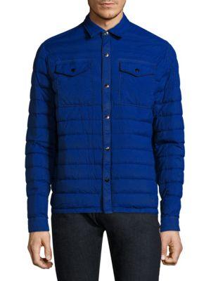STRELLSON Lightweight Down Jacket in Bright Blue