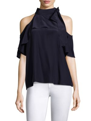 Empire Cold Shoulder Silk Top by Parker