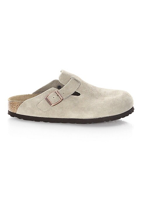 Image of Comfortable casual style slip-ons shoes in suede detail. Suede upper. Round toe. Slip-on style. Cork footbed. EVA sole. Imported.