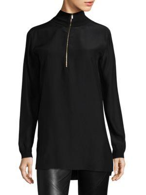 Daryn Silk Pullover Blouse by Lafayette 148 New York