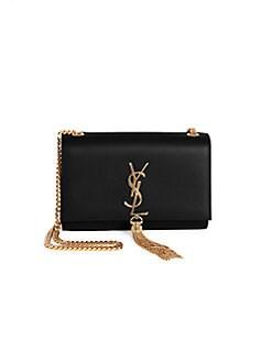 45fcd21d64a Saint Laurent. Small Kate Monogram Tassel Leather Shoulder Bag