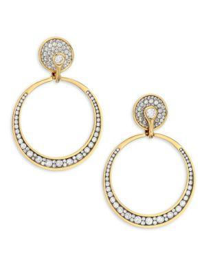 PLEVÉ 18K White Yellow Gold & White Diamond Drop Earrings