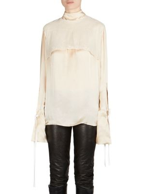 Lace Overlay Shirt by Ann Demeulemeester