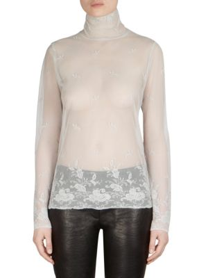 Lace Turtleneck Top by Ann Demeulemeester