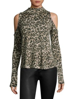 Lena Leopard Cashmere Top by Generation Love