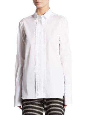Long-Sleeve Collared Cotton Shirt by Weekend Max Mara