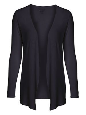MAJESTIC Soft Touch Open Cardigan in Marine