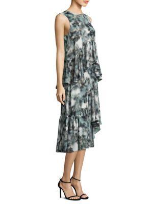 PROSE & POETRY Anderson Slim-Fit Two-Fer Midi Dress in Slate