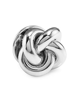 """Image of A classic double knot design in sterling silver Sterling silver 1""""W x 1""""L Made in USA. Men Accessories - Jewelry. David Donahue. Color: Silver."""
