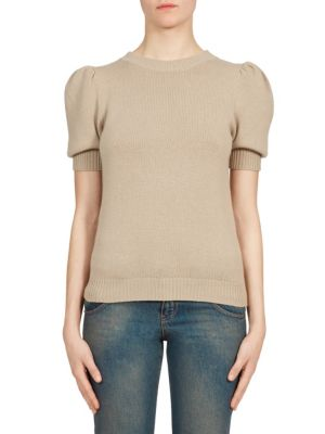 Cashmere Puff Sleeve Pullover by