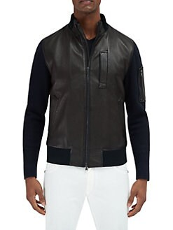 Leather Jackets & Shearling Coats For Men | Saks.com
