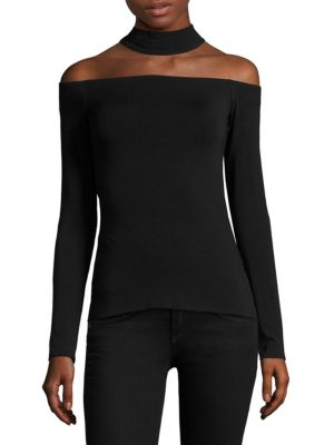 Hold Court Off-the-Shoulder Choker Top by Bailey 44