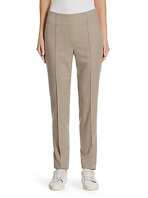 """Image of Sharp and polished trouser in fine wool-blend fabric Concealed side zip Rise, about 10"""" Inseam, about 31"""" Wool/elastane Dry clean Imported Model shown is 5'10"""" (177cm) wearing US size 4. Designer Lifest - Designer Lifestyle Sport > Saks Fifth Avenue. Barb"""