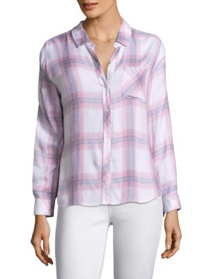 Hunter Plaid Button-Down Shirt by Rails