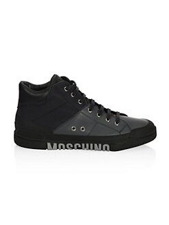 Moschino - Lace-Up Mid Top Sneakers