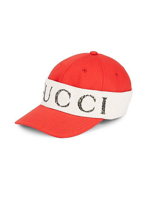 Image of Baseball cap with Gucci wrap. Cotton. Made in Italy.