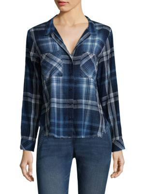 2-Pocket Cotton Button-Down Shirt by Bella Dahl