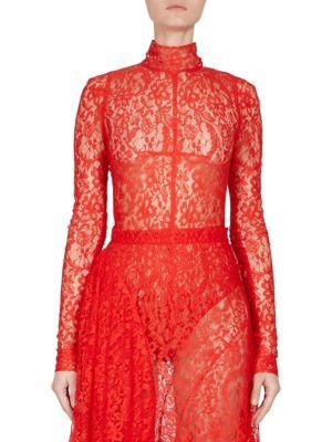 Lace Turtleneck Bodysuit by Givenchy